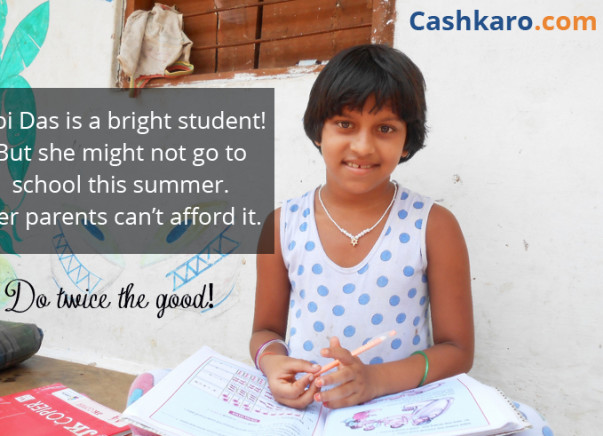 Every time you contribute, Cashkaro contributes equally!