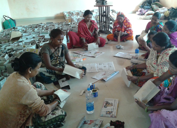 I am running a Women Self Help Group to help better India and Pollution Free India their Making Paper Bag.