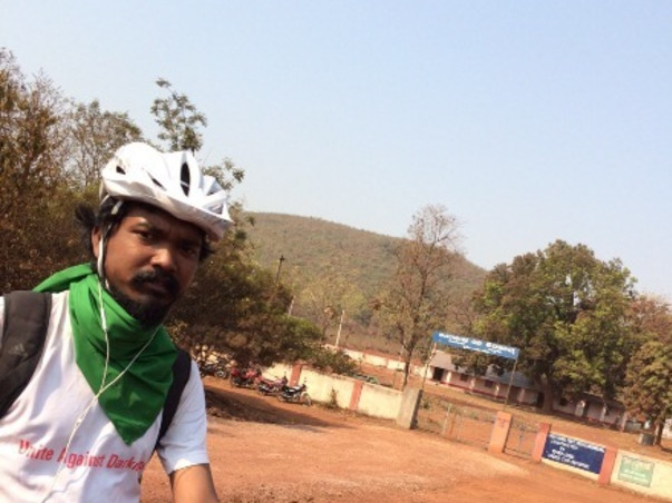 I am cycling to bring clean energy and renewable lighting to poor Adivasi villages in Odisha.