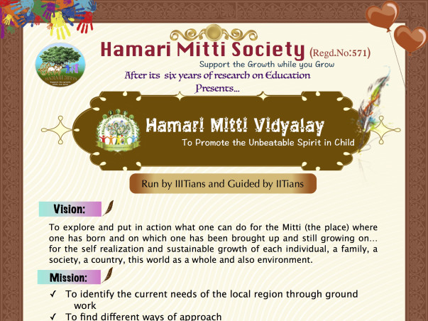 Hamari Mitti Society education for poor and orphans