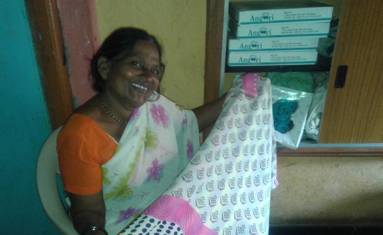Nirmal Kamble at her house