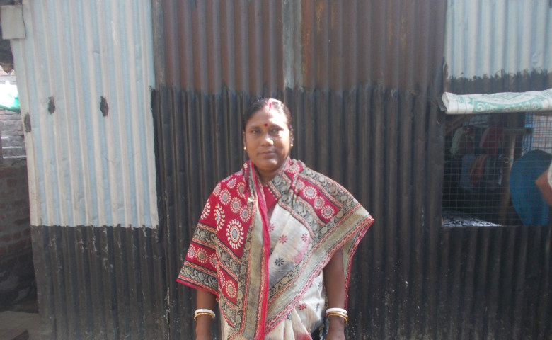 Swapana at her residence