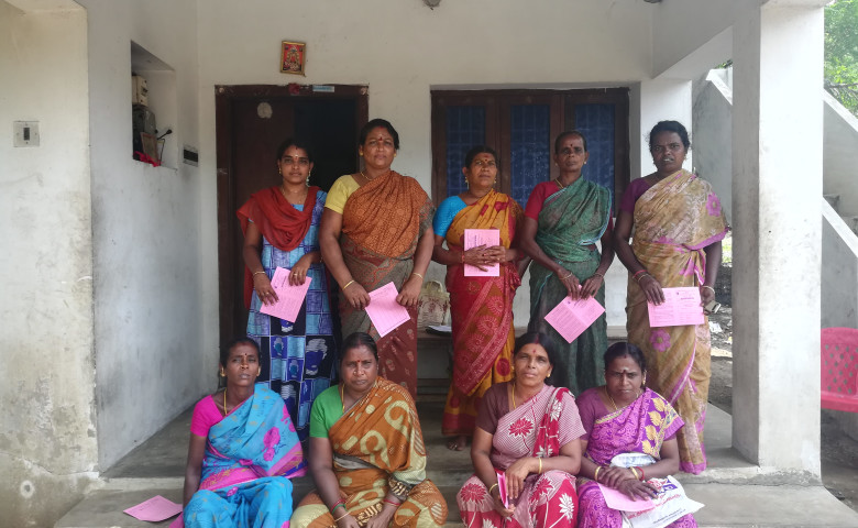 Akilandeswari and her group