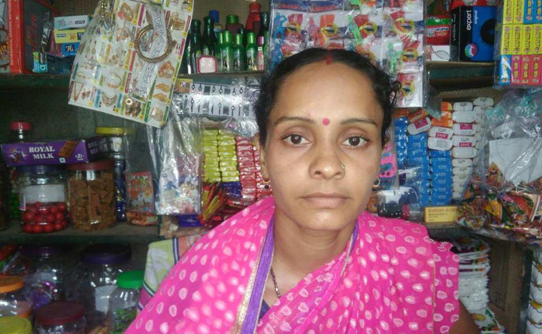 Padmini at her family's stationary store