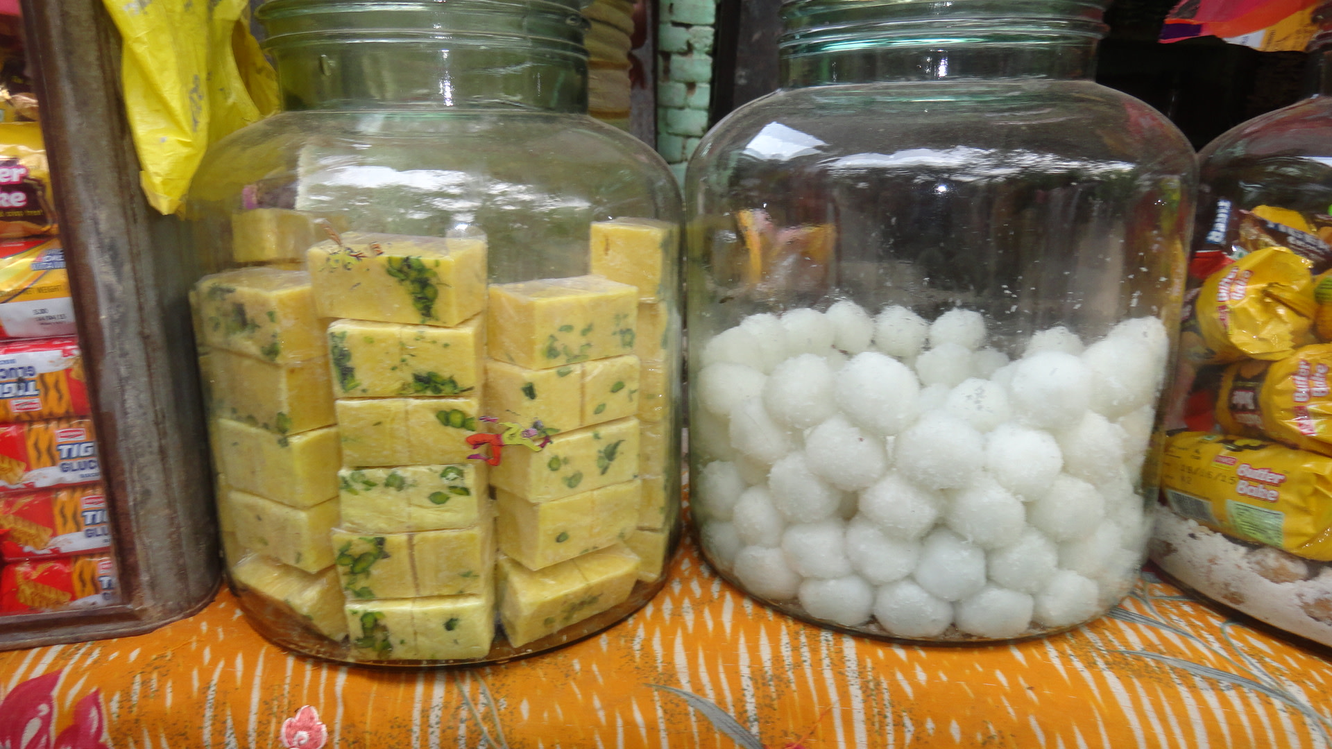 The sweets prepared by Rekha Devi