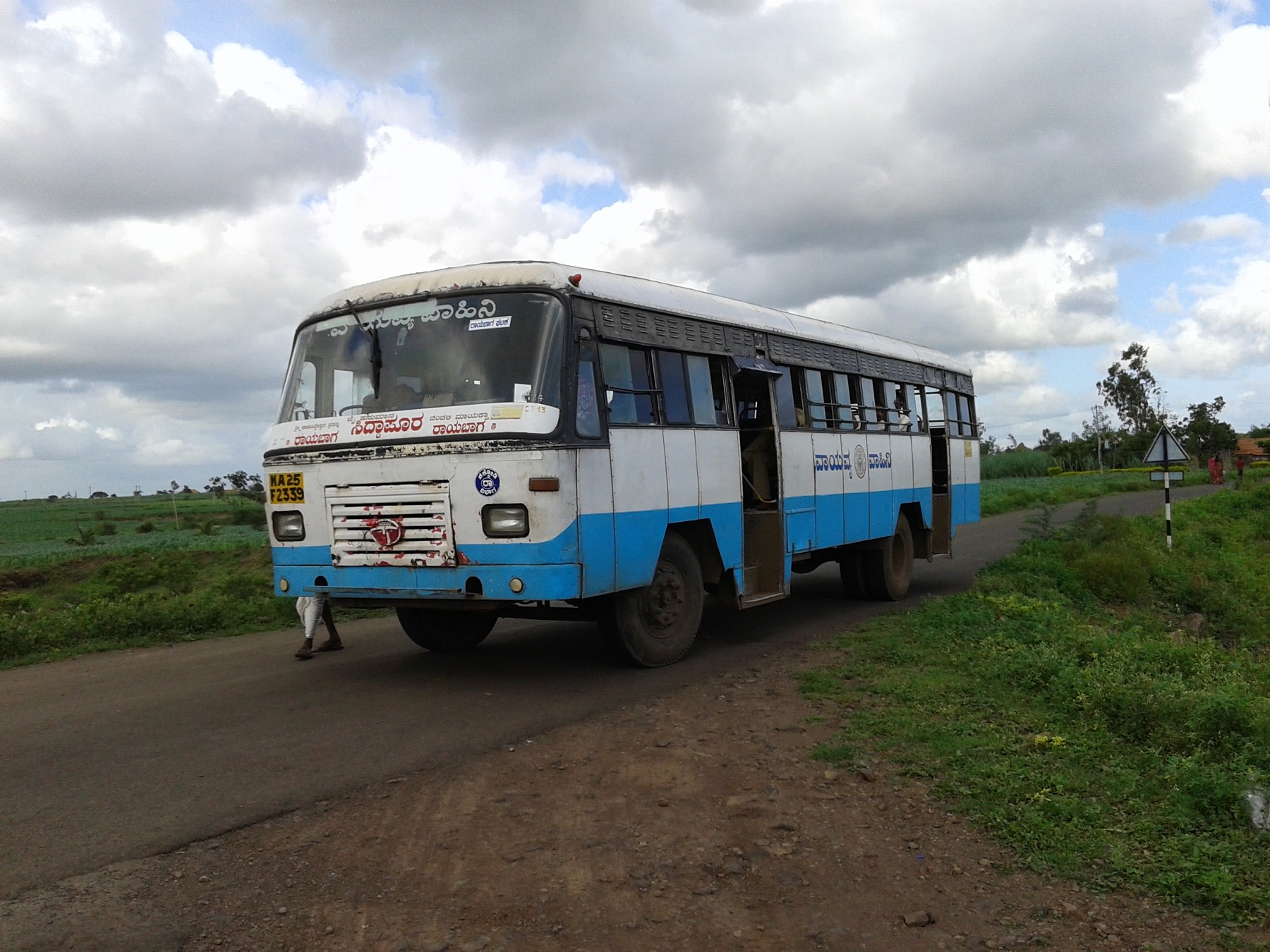 Most commonly used mode of transport in rural regions of Karnataka