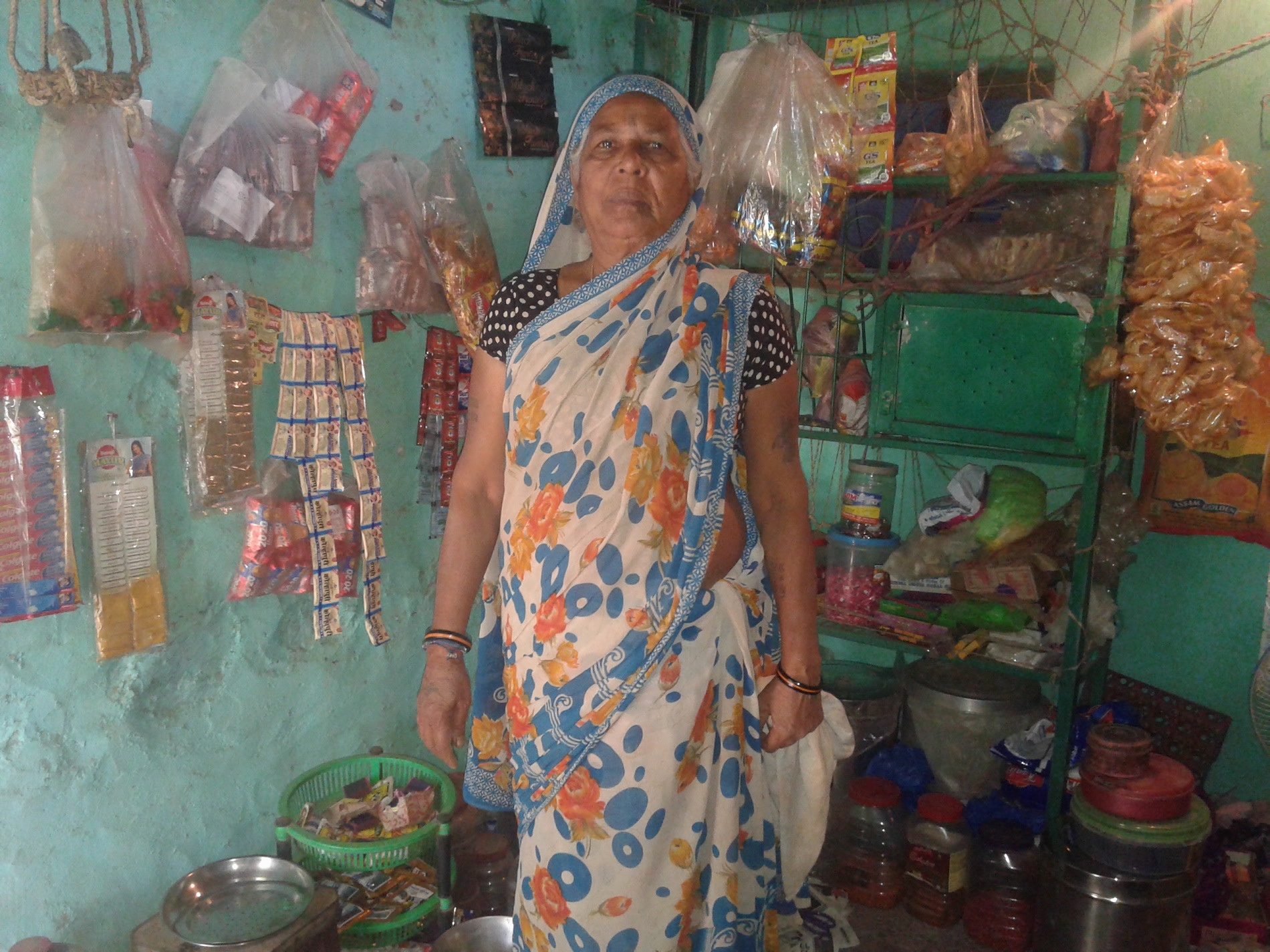 Bhaggavva at her Pan shop