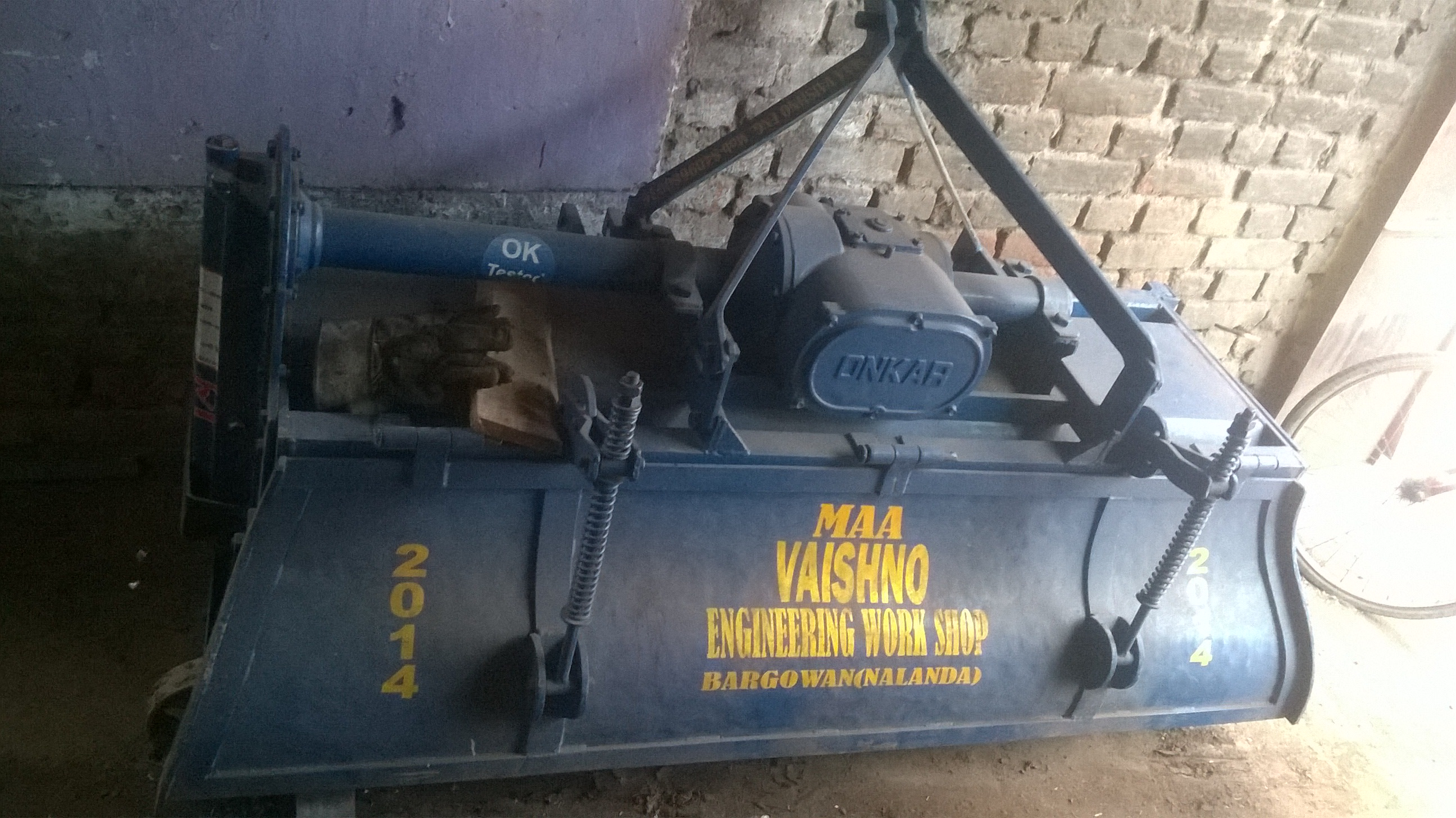 A Rotavator manufactured by Maa Vaishno Engineering Workshop