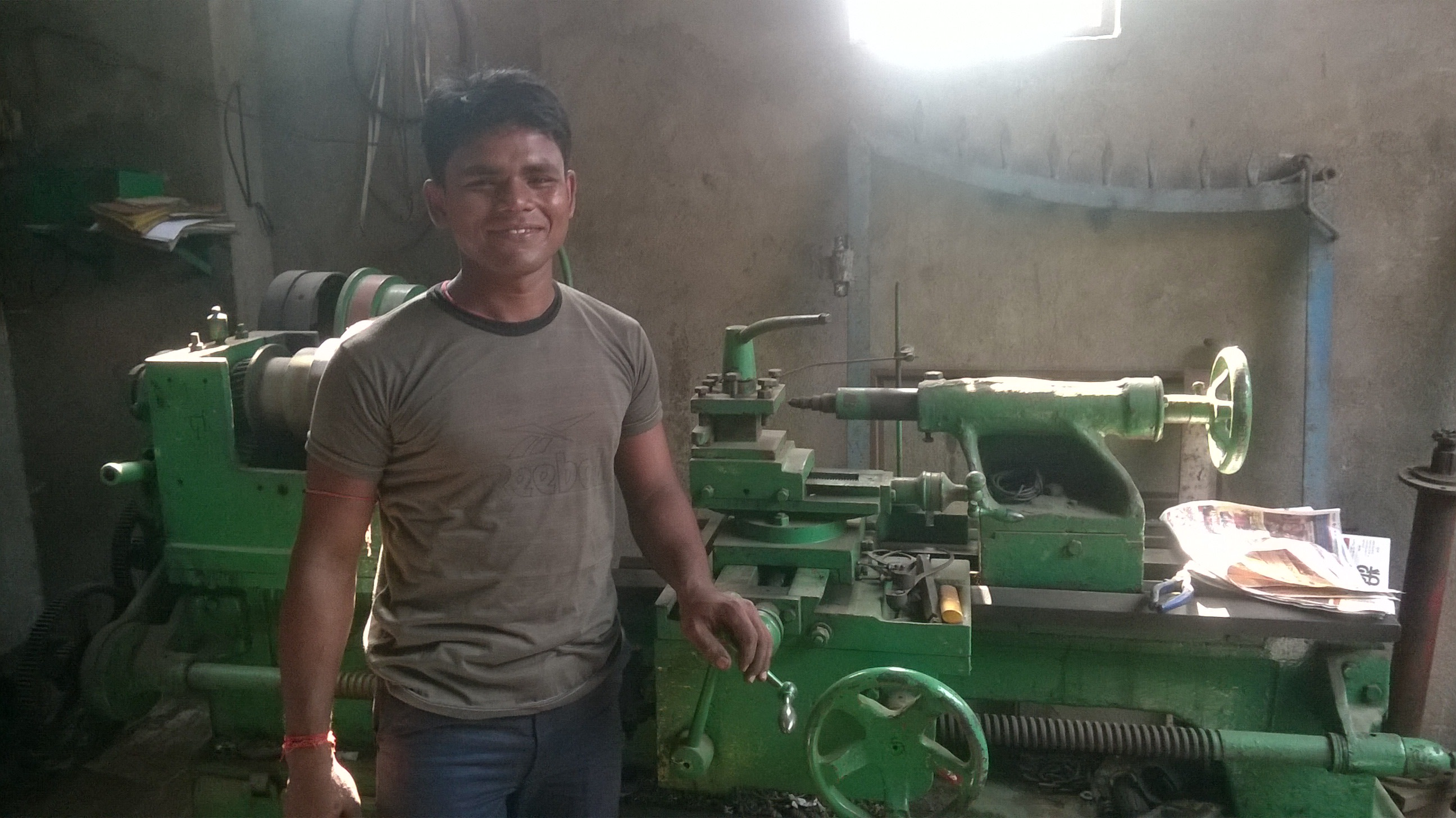 Ranjeet in his workshop