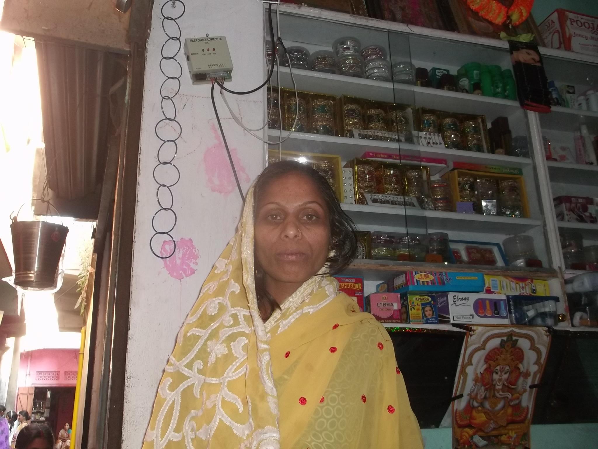 Rinke Devi in her shop