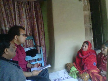 Interviewing borrowers with DCBS' Regional Manager, Arun Das