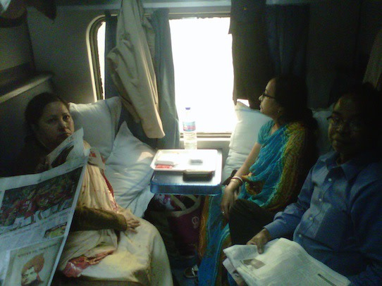 Fellow train passengers who sat and slept in berths next to mine.