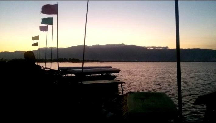 The breath taking view at Loktak Lake.