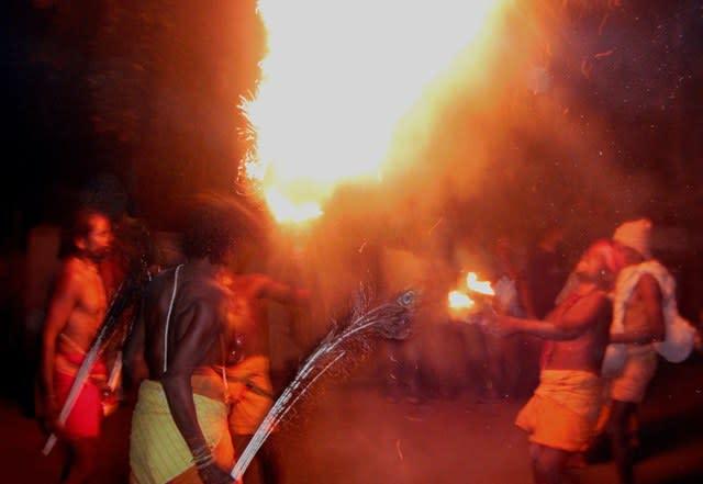 Danduas performing the Agni Danda