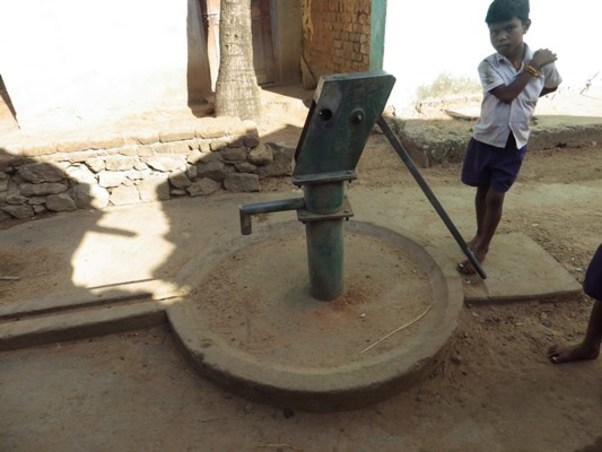 An out of service hand pump in rural Orissa