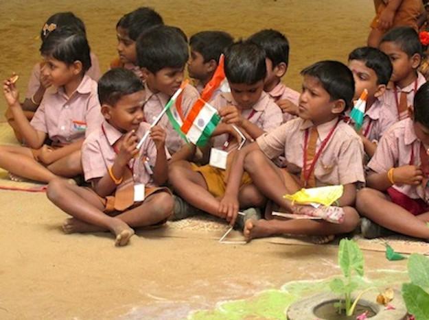 Kids sitting cropped