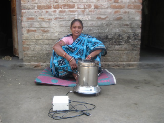 Chandramukhi Rana with the cook stove