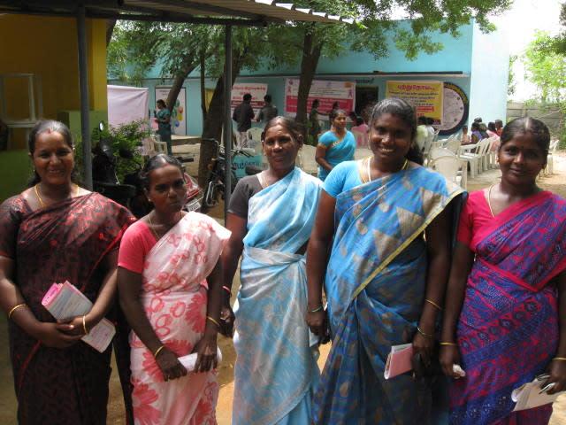 From left: Kasturi, Gomithi, Mani, Sharmila and Vijayalakshmi