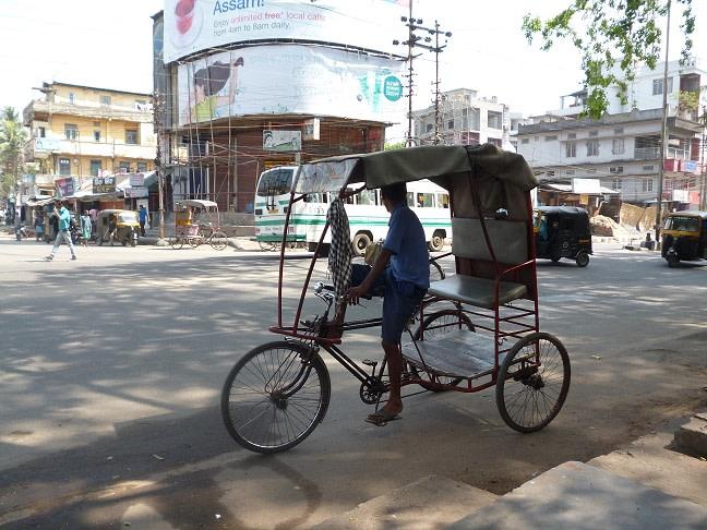 A rickshaw puller in Guwahati