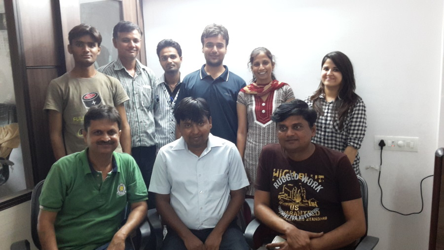 With the team of Prayas at the head office