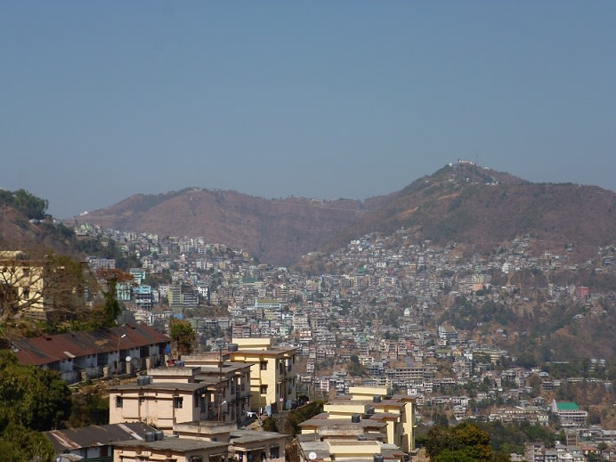 Aizawl, a city in the hills