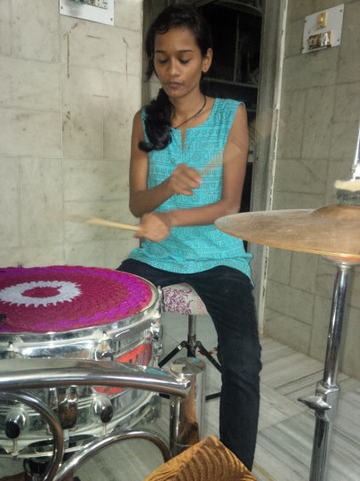 Me playing the drums: