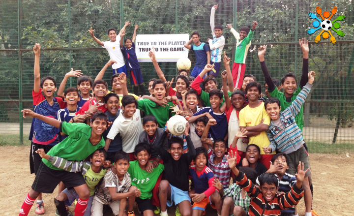 Children from our Community Football centers