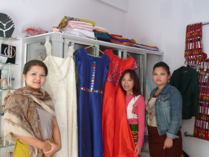 Lalnuntluangi creates affordable bridal wear for Mizo women