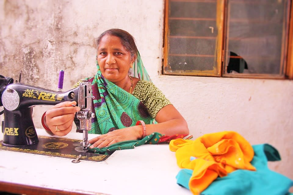 Lalitaben from Chandkheda, Gujarat, is one of the hundreds of rural women who has benefited from training, capital, financial awareness, and insurance support by non-profits like Prayas