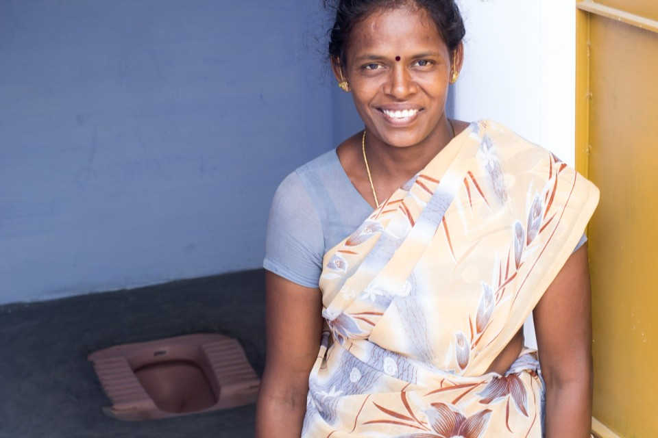 Sarita and her family from Velour no longer defecate in the fields and surrounding shrubbery thanks to rural sanitation initiatives by GUARDIAN and support from regular Indians like you