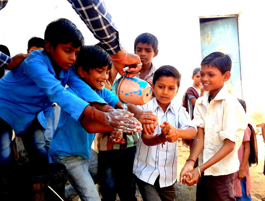 Global Handwashing Day being celebrated at the school
