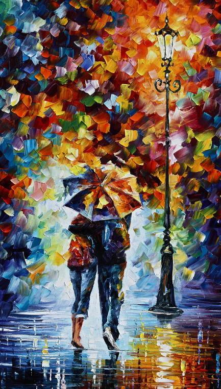 Walking in rain. Source: Fine Art America