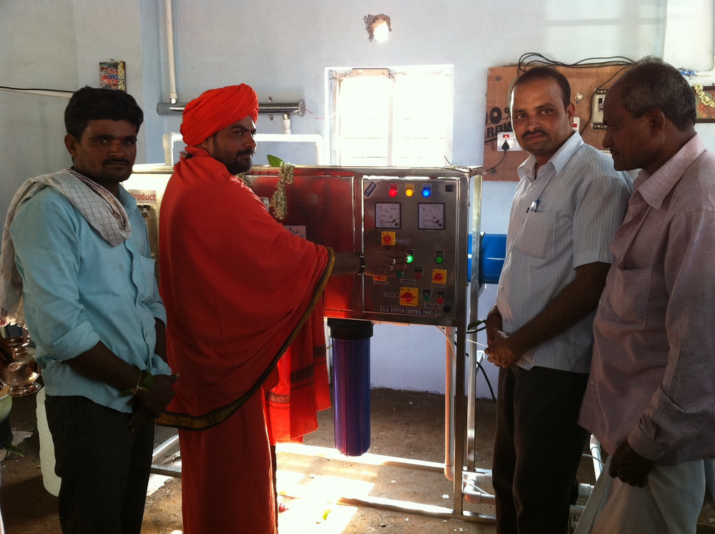 Fakirappa manufactures his village's drinking water supply