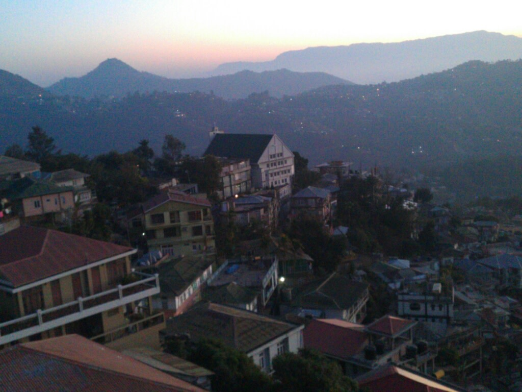 Sunrise in the hills, Aizwal