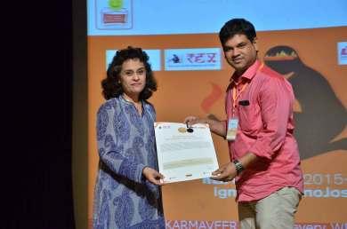 Karmaveer Global Fellowship award from REX Karmaveer Foundation