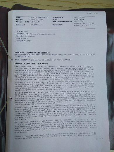 Discharge Summary report