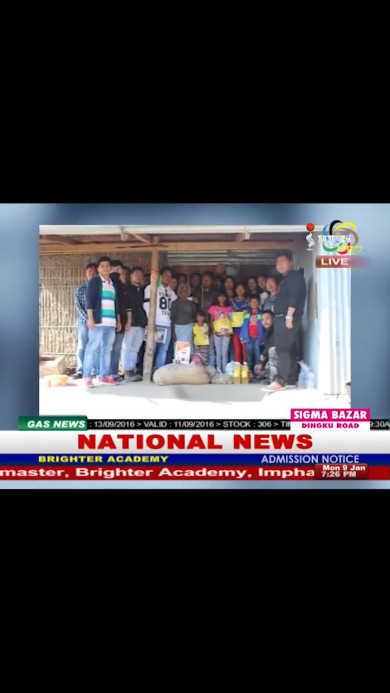 News report on TV channel about our visit