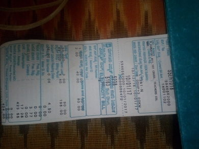 Electricity bill paid using funds contributed