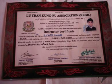 Instructor black belt