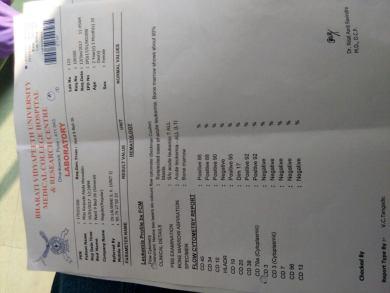 Hematology report