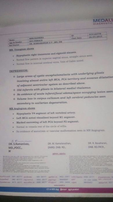 Mri Scan report 2nd page