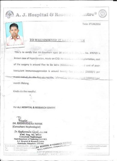 Letter from the nephrologist