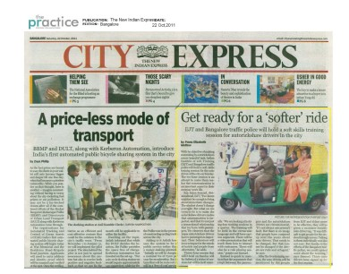 Soft Skills Training to Blr AutoRickshaw Drivers .