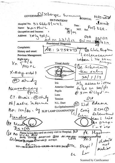 Karthik Medical Report