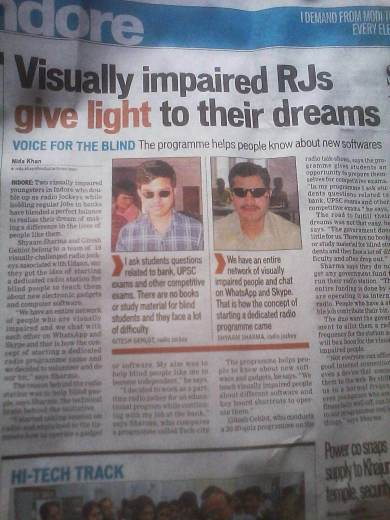 Visually Impaired Rjs giving voice to their dreams