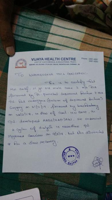 Medical Certificate.