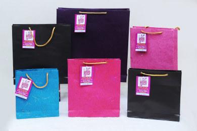 Handmade Paper Bags by Yuvaan students