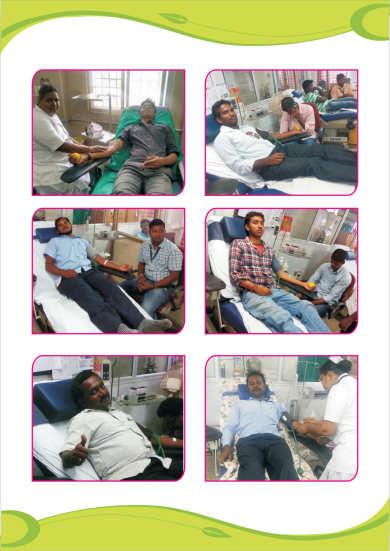 Uyirthuli Team Donating Blood