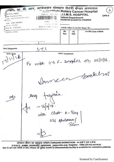 AIIMS treatment prescription