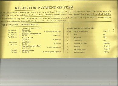 Fee structure
